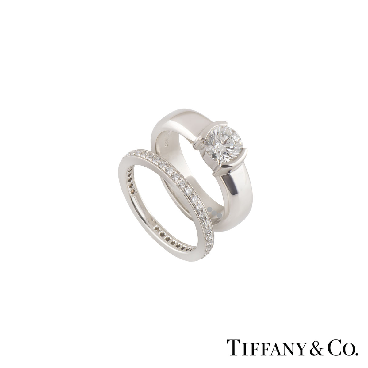 Tiffany & Co. Platinum Diamond Etoile & Legacy Bridal Set